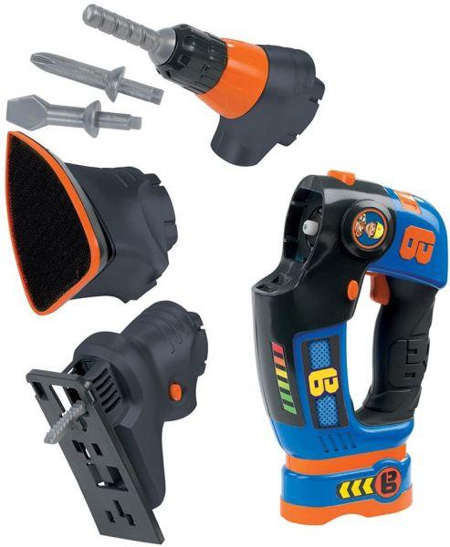 Smoby Bob der Baumeister eVo 3-in1 Werkzeug, 360132