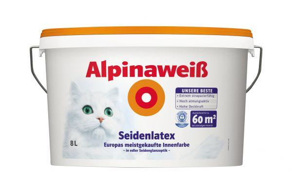 Alpinaweiß Seidenlatex, weiß