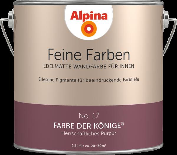 """Alpina Feine Farben No. 17 """"FARBE DER KÖNIGE"""" - Herrschaftliches Purpur"""