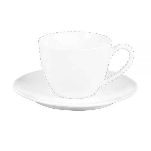 Flirt by R&B Serie Bianco, weiß Cappuccino-Untertasse