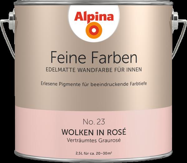 "Alpina Feine Farben No. 23 ""WOLKEN IN ROSÉ"" - Verträumtes Graurosé"
