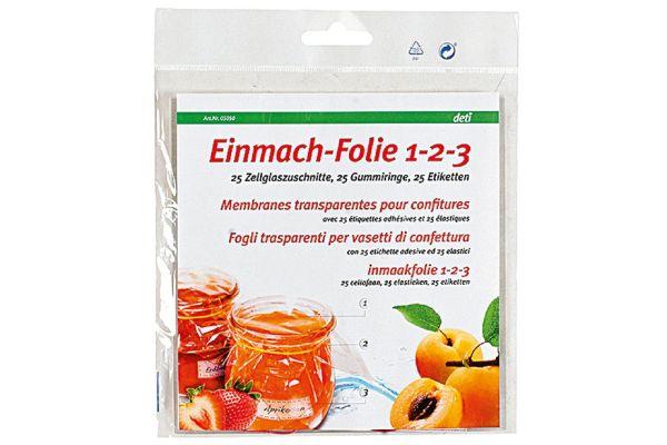 DETI Einmach-Folie 1-2-3, 25er-Pack