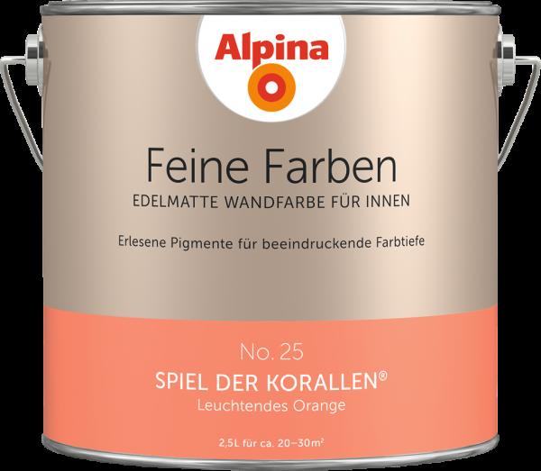 """Alpina Feine Farben No. 25 """"SPIEL DER KORALLEN"""" - Leuchtendes Orange"""