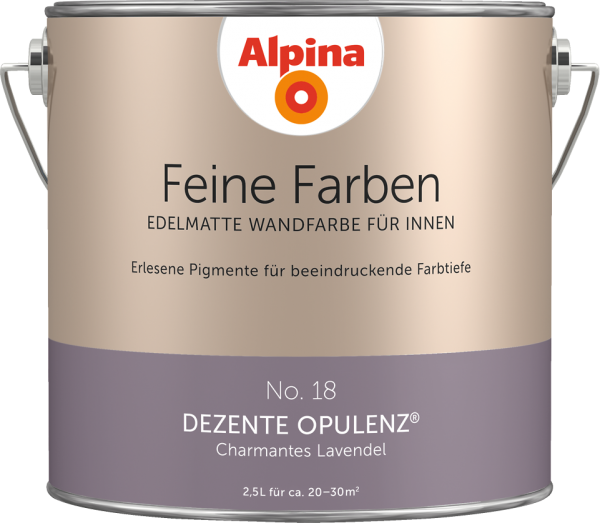 """Alpina Feine Farben No. 18 """"DEZENTE OPULENZ"""" - Charmantes Lavendel"""